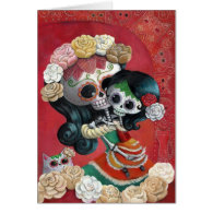 Mexican Skeleton Mother and Daughter Cards