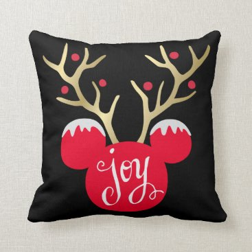 Mickey & Friends | Mickey Christmas Joy Throw Pillow