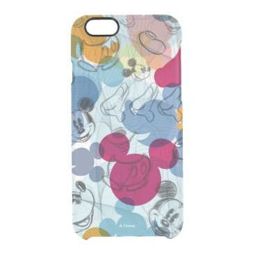 Mickey & Friends | Mouse Head Sketch Pattern Clear iPhone 6/6S Case