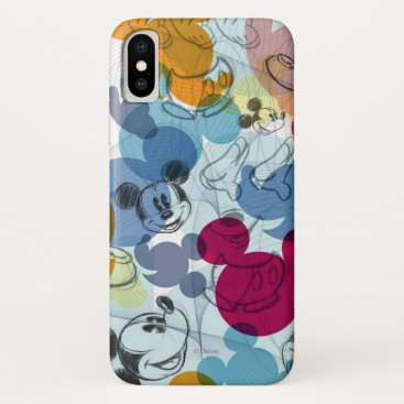 Mickey & Friends | Mouse Head Sketch Pattern iPhone X Case
