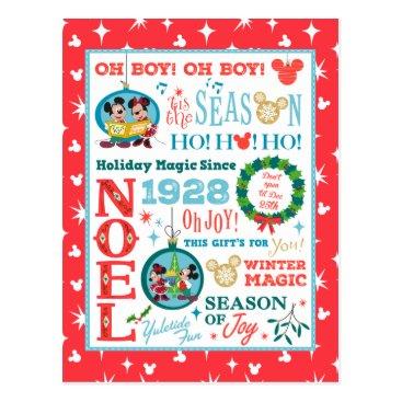 Mickey | Merry Christmas Postcard