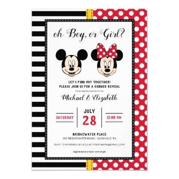 Mickey & Minnie | Boy or Girl - Gender Reveal Invitation
