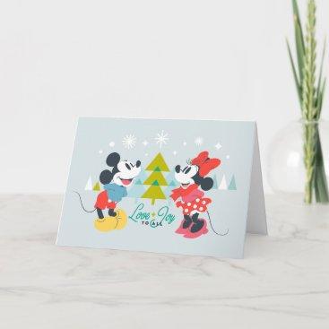 Mickey & Minnie |  Love & Joy To All Card