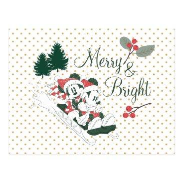 Mickey & Minnie | Merry & Bright Postcard