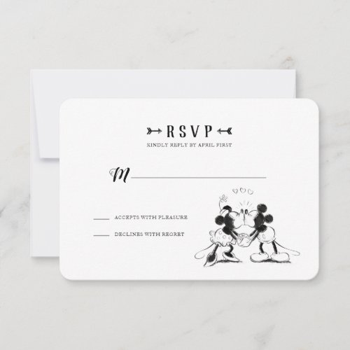 Mickey &amp&#x3B; Minnie | Pink Confetti Wedding - RSVP