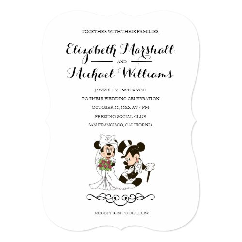 Mickey &amp&#x3B; Minnie Wedding | Married Invitation
