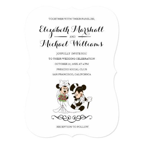 Mickey & Minnie Wedding | Married Invitation