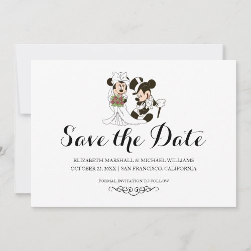 Mickey &amp&#x3B; Minnie Wedding | Married Save the Date