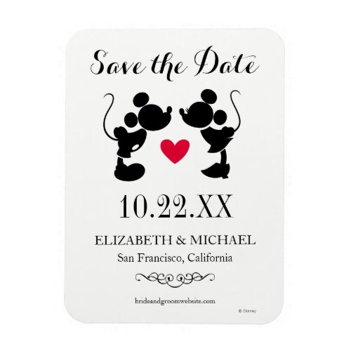 Mickey &amp&#x3B; Minnie Wedding | Silhouette Save the Date Magnet