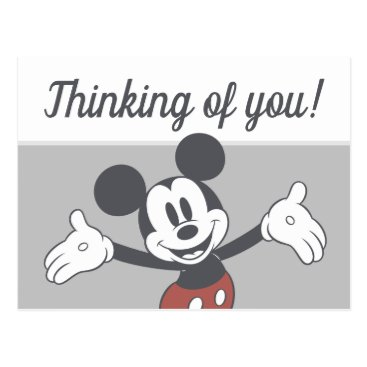 Mickey Mouse Arms Wide Postcard