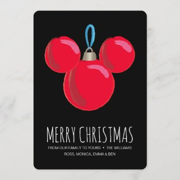 Mickey Mouse Christmas Ornament Holiday Card