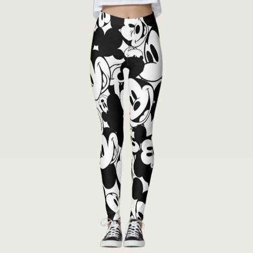 Mickey Mouse | Crowd Pattern Leggings