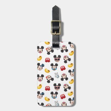 Mickey Mouse Emoji Pattern Luggage Tag