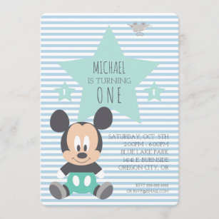 mickey birthday invitations zazzle