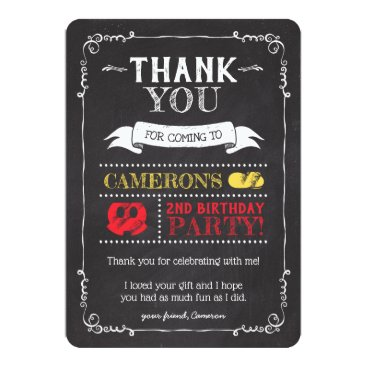 Mickey Mouse Icon Chalkboard | Thank You Invitation