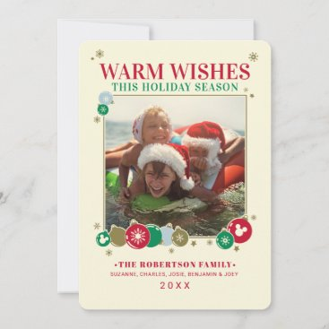 Mickey Mouse Warm Wishes Holiday Card