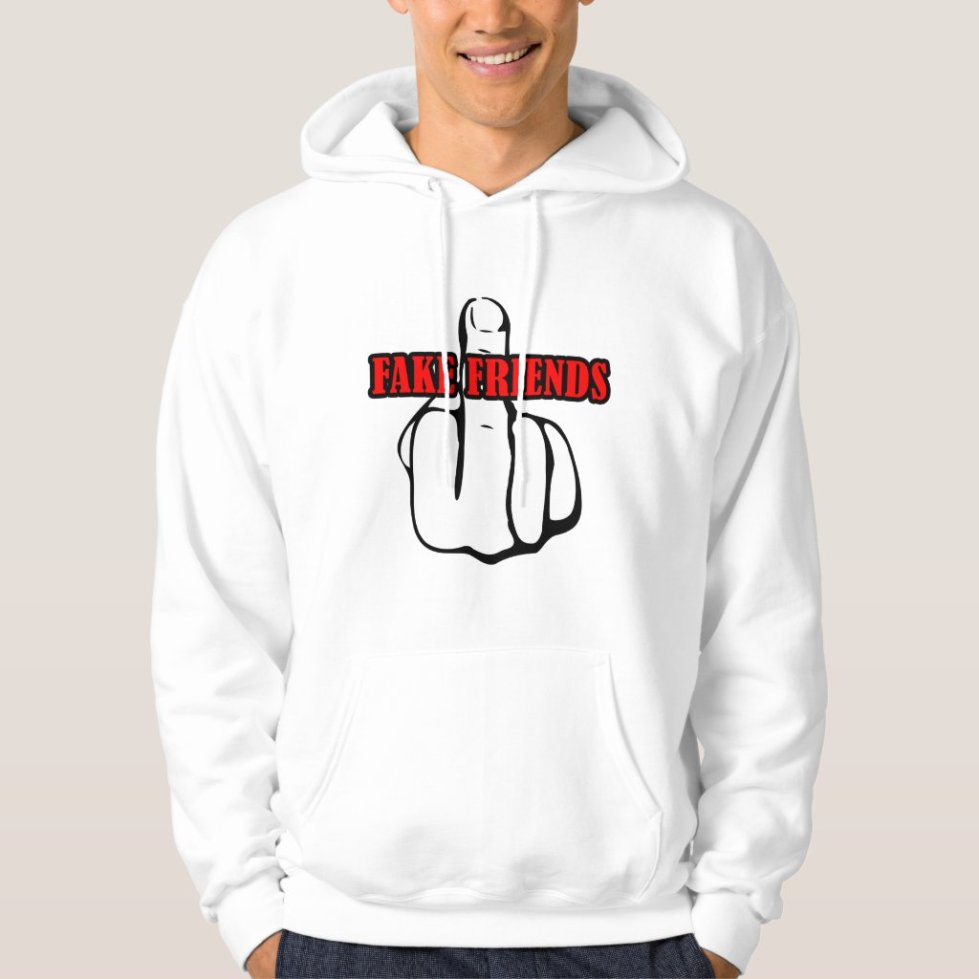 Middle Finger Fuck Fake Friends Hoodie