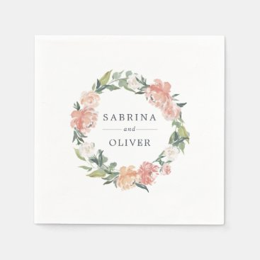 Midsummer Floral | Botanical Personalized Wedding Napkin