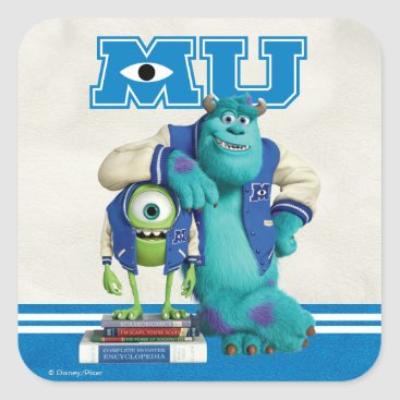 Mike and Sulley MU Square Sticker