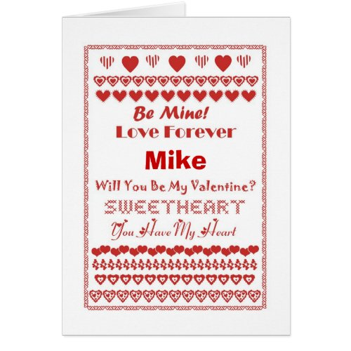 Mike Happy Valentine's Day Hearts Hearts Hearts