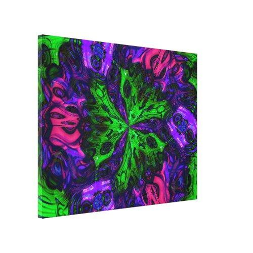 Mimsy Canvas Print - green home decor accessories