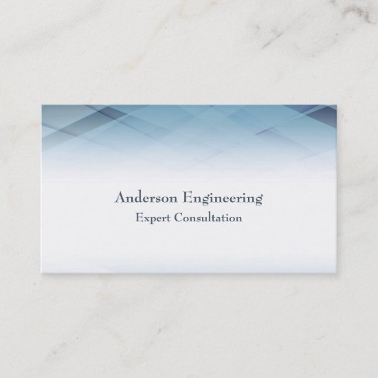 Minamilist Abstract Blue Geometric Professional Business Card
