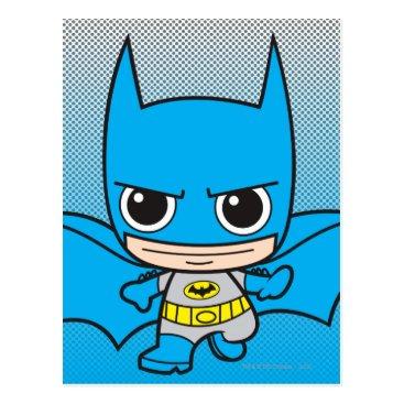 Mini Batman Running Postcard
