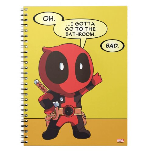 Mini Deadpool Spiral Notebook