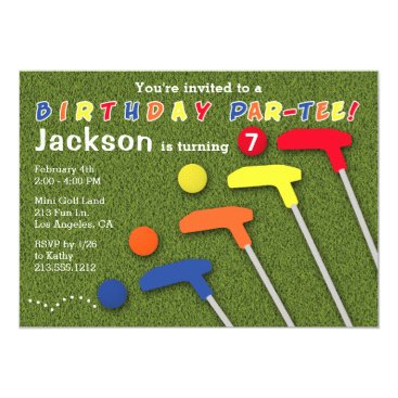 Mini Golf Putt Putt Birthday Party Invitation