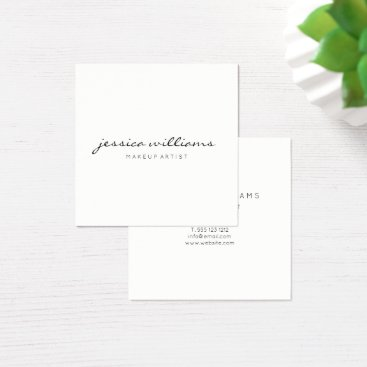 Minimalist Modern Professional Square II Square Business Card