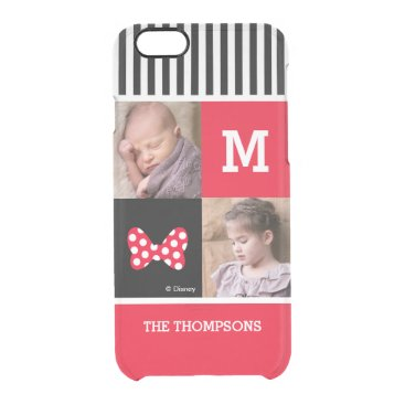 Minnie Mouse Bow | Add Photos & Monogram Clear iPhone 6/6S Case