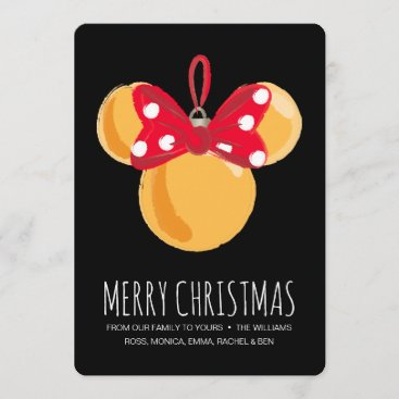 Minnie Mouse Christmas Ornament Holiday Card