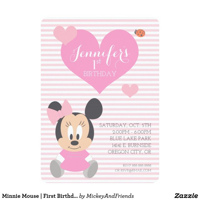 Minnie Mouse | First Birthday