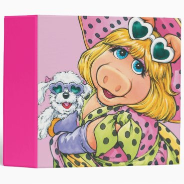 Miss Piggy Holding Puppy Binder