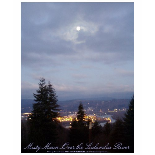 Misty Moon Over the Columbia River shirt