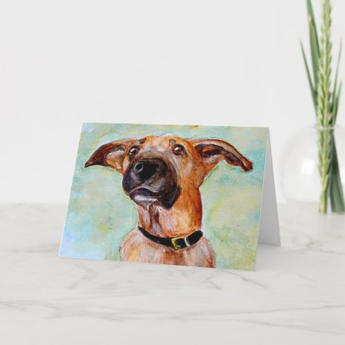 Mixed Breed Blank Greeting Card