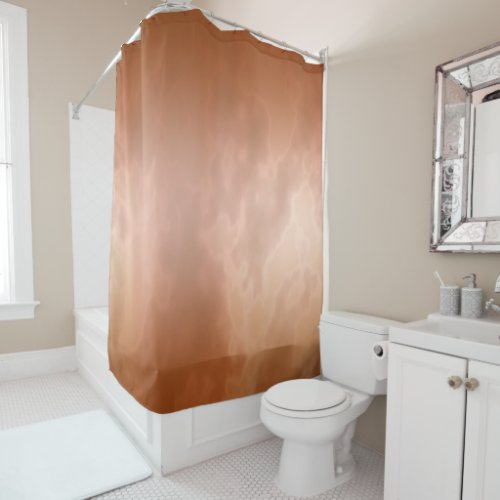 Mocha Marble Shower Curtain