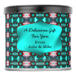 Mod Teal Red Abstract Artsy Pattern Hot Chocolate Drink Mix
