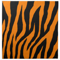 Mod Tiger Zebra Print Orange Cloth Napkins on Zazzle