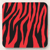 Mod Zebra Print Beverage Coaster on Zazzle