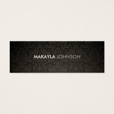 Modern and Minimal Damask Mini Business Card