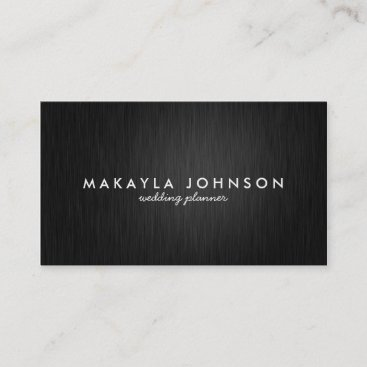 Modern and Minimal Professional Black & Silver Business Card