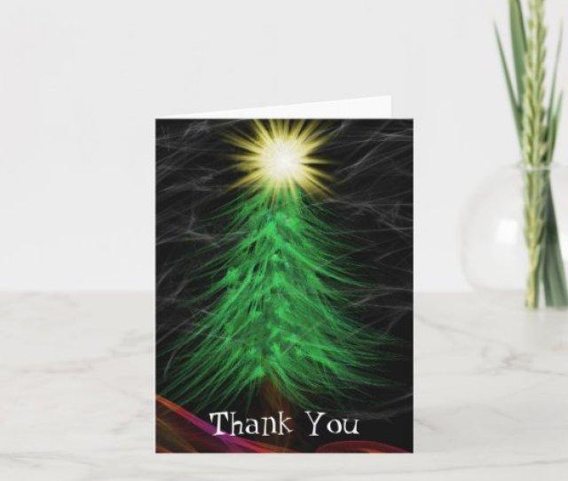 Modern Art Merry Christmas Thank You Card