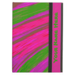 Modern Bright Pink Green Abstract Design iPad Air Cases