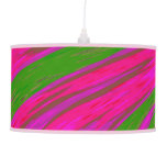 Modern Bright Pink Green Color Swish Ceiling Lamp