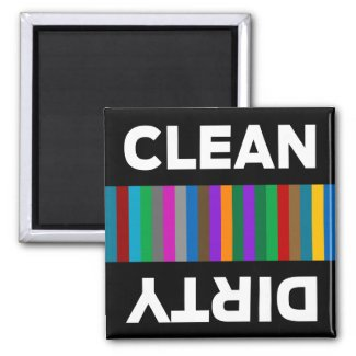 Modern Clean or Dirty Dishwasher Magnet