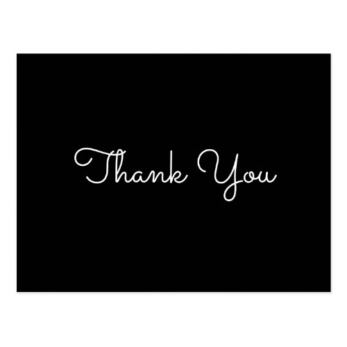 Modern Elegant Simple Thank You Postcard