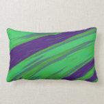 Modern Green Blue Color Swish abstract Lumbar Pillow