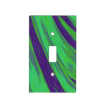 Modern Green Blue Color Swish Light Switch Covers