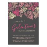 Modern Grey And Pink Galentine's Day Invitation